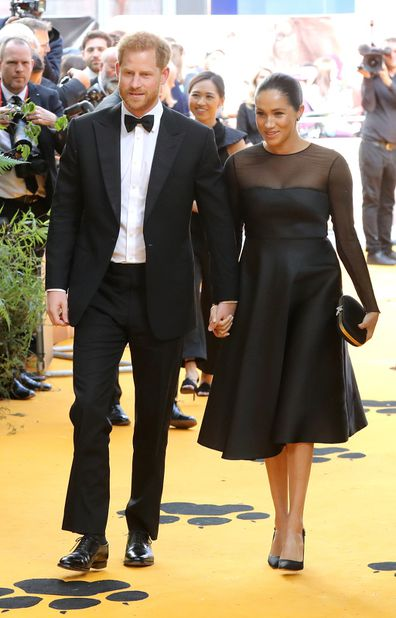 Meghan and Harry attend The Lion King premiere earlier this year.