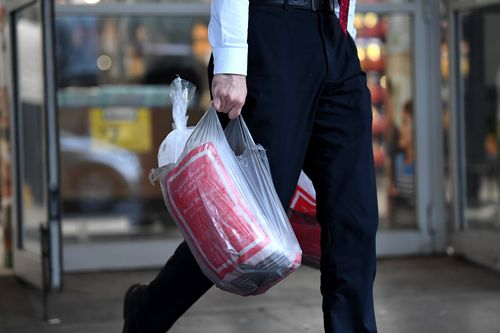 Single-use plastic bags will be out of fashion by the end of June. Picture: AAP