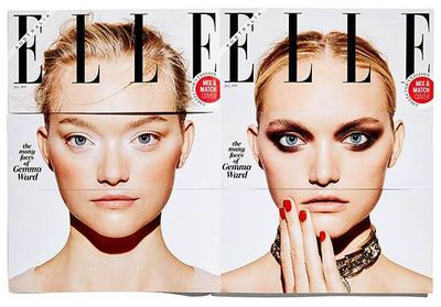 <p><strong>4.</strong></p> <p><em>Elle</em> Australia's innovative and playful reputation was reinforced by their July cover with Gemma Ward. One model, two days, five looks and 35 possible cover combinations were possible with the interactive format.<br /> <em></em></p>