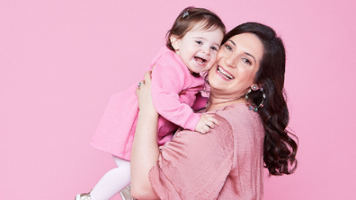 Paula with her daughter Valentina.