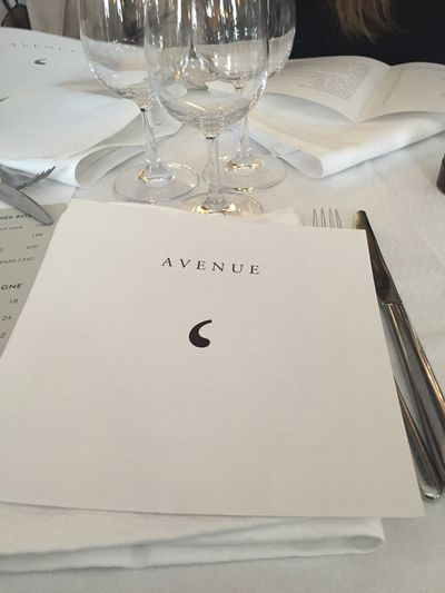 After showroom lunch at L'AVENUE in Avenue Montaigne.