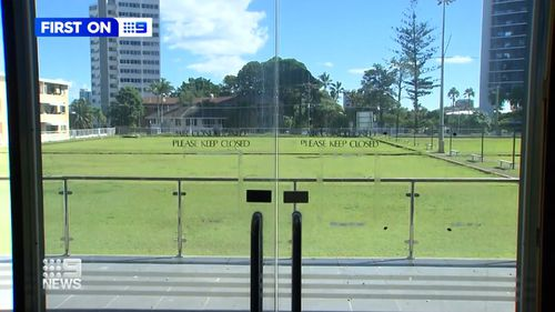 The lawn bowls greens are still maintained.