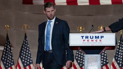 Eric Trump said Joe Biden's election would be a 'giant relief for the terrorists'.