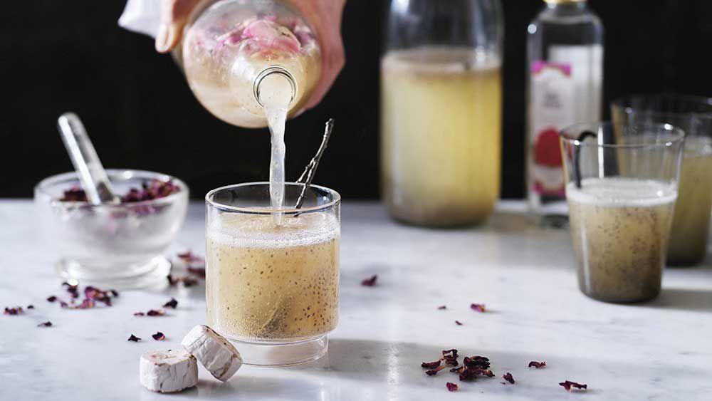 Vanilla rosewater kefir