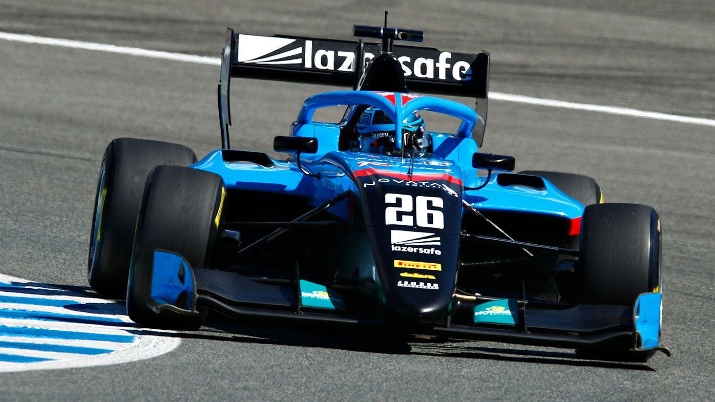 Calan Williams during testing in Spain.
