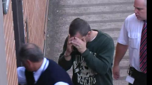 Luke Falkiner, 34, will serve at least two years behind bars for driving fatigued and crashing head-on with another vehicle in June last year. Picture: 9NEWS.