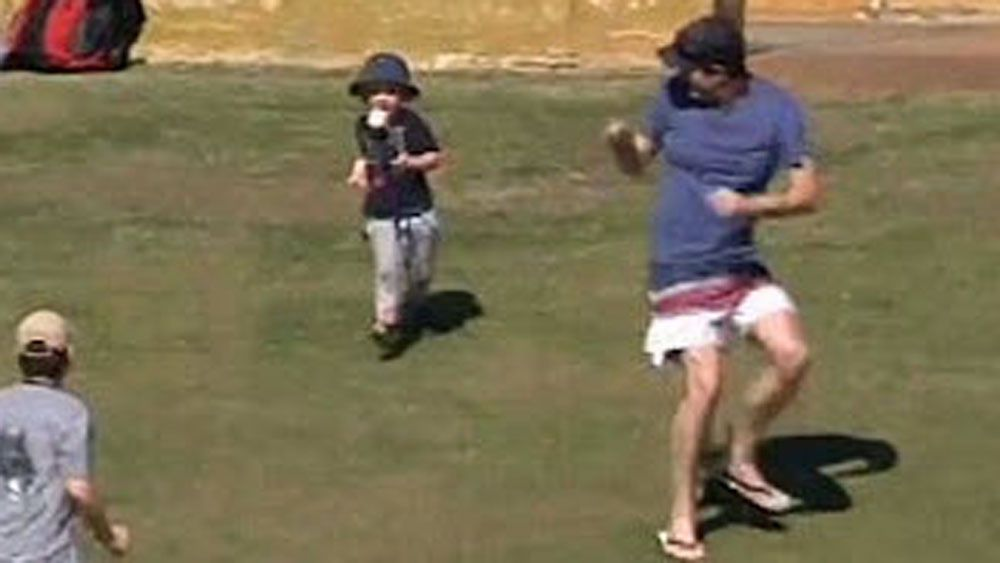 Cricket: Fan's misjudged catch hits young child in the face
