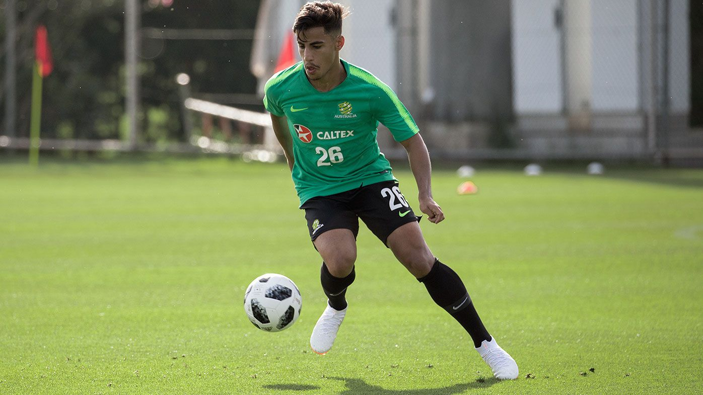 Australian Socceroos player Daniel Arzani
