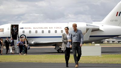 Duke and Duchess of Sussex bring rain to drought-stricken Dubbo