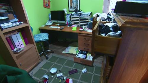 Rashelle Predovnik came home after work to find her house on Hooley Road, Midland trashed and her beloved cross-breed dog stolen.
