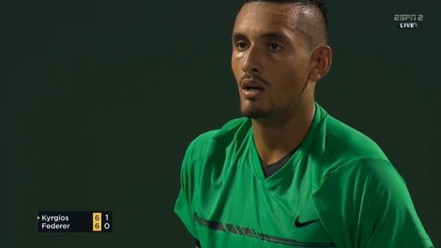 Nick Kyrgios tells crowd to 'shut up' in semi final against Roger Federer at the Miami Open