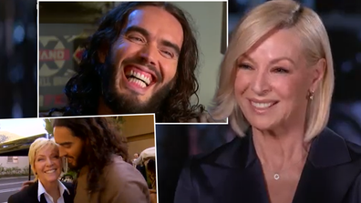 Russell Brand's wild LA interview with Liz Hayes