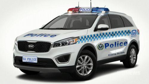 A mock-up of the Kia Sorento as a police car. (9NEWS)