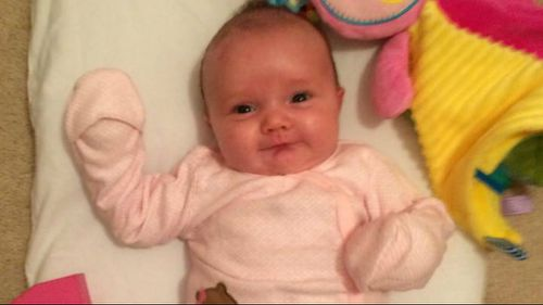 Baby Kiira Kinkle has a rare skin condition that makes it impossible for her parents to touch her. (Facebook)