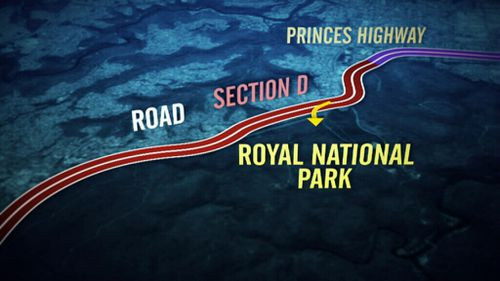 The motorway would link up with the Royal National Park. (9NEWS)