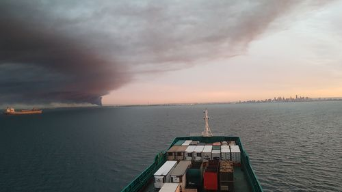 Picture taken from cargo ship MV Victorian Reliance.