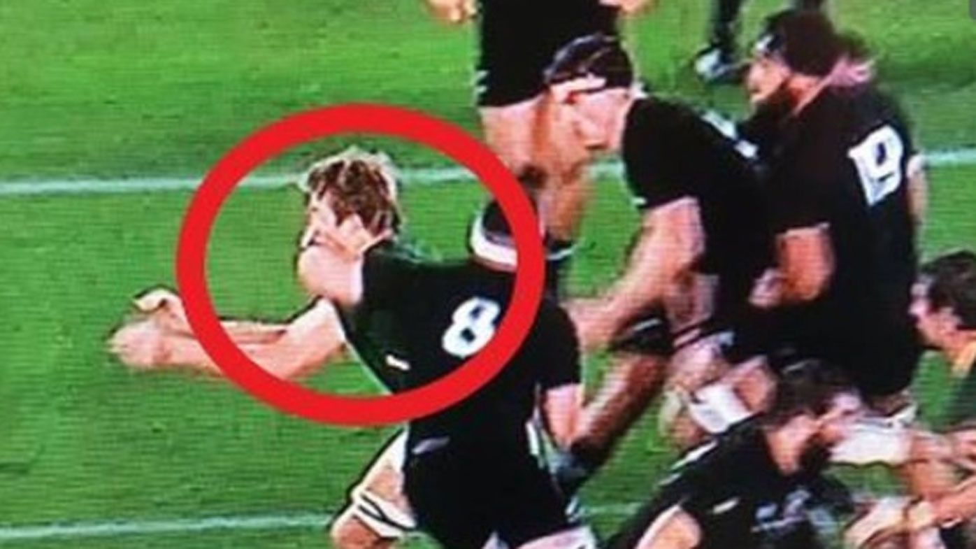 All Blacks captain Kieran Read gets away with cheap shot against Springboks
