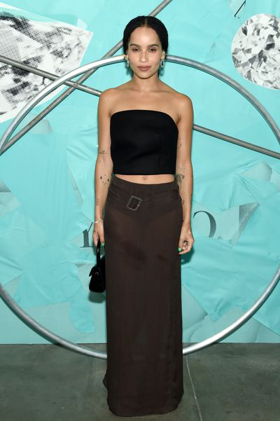 Actress Zoe Kravitz attends the Tiffany Blue Book Collection launch at Studio 525 on October 9, 2018 in New York City.