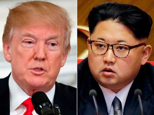 """North Korea has stopped short of saying it has any intention of abandoning its nuclear arsenal, with Kim making clear that nukes remain a """"treasured sword"""". (AP)"""