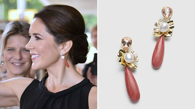 Princess Mary's coral earrings