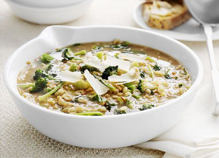 Broccoli and bean soup