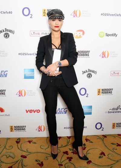 Singer Rita Ora with her Best Female award during the O2 Silver Clef awards in London.