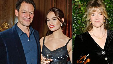Dominic West and Lily James October 2018, Catherine Fitzgerald February 2019