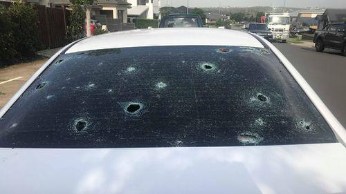 Cars were damaged in Oran Park