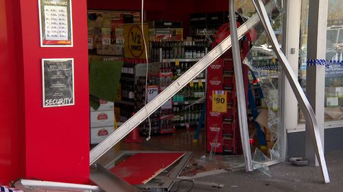 The Liquorland was left with significant damage after the ram-raid.