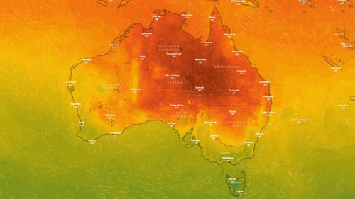 Central Queensland is tipped to bear the brunt of the heatwave with temperatures climbing into the low 40s while those in Brisbane are expecting tops of 36 degrees.
