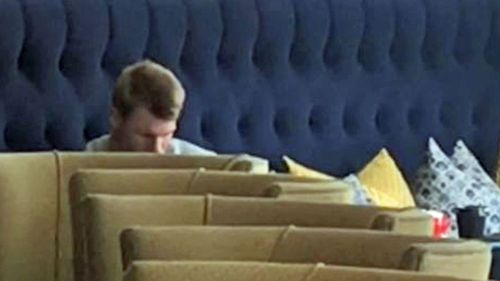 David Warner cut a lonely figure in his South African hotel room yesterday.