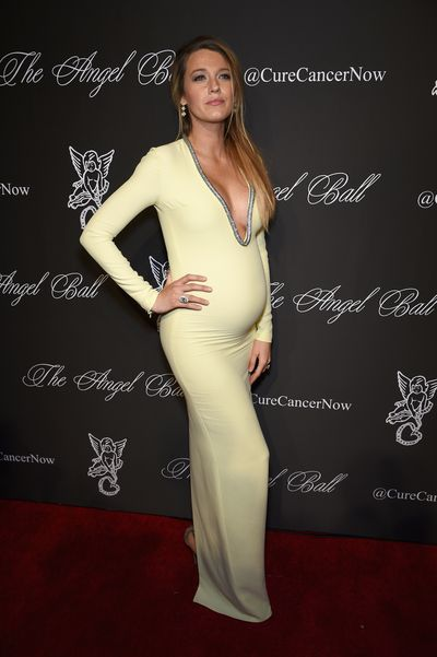 Blake Lively in Gucci at the Angel Ball in New York in October, 2014