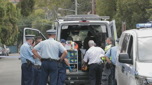 A man and a police officer are both in hospital after a violent arrest.