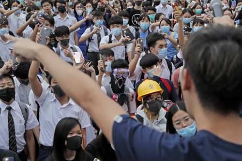 Hong Kong has been the scene of tense anti-government protests for nearly three months.  (AP Photo/Kin Cheung)