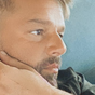 Ricky Martin dyes his beard platinum blonde