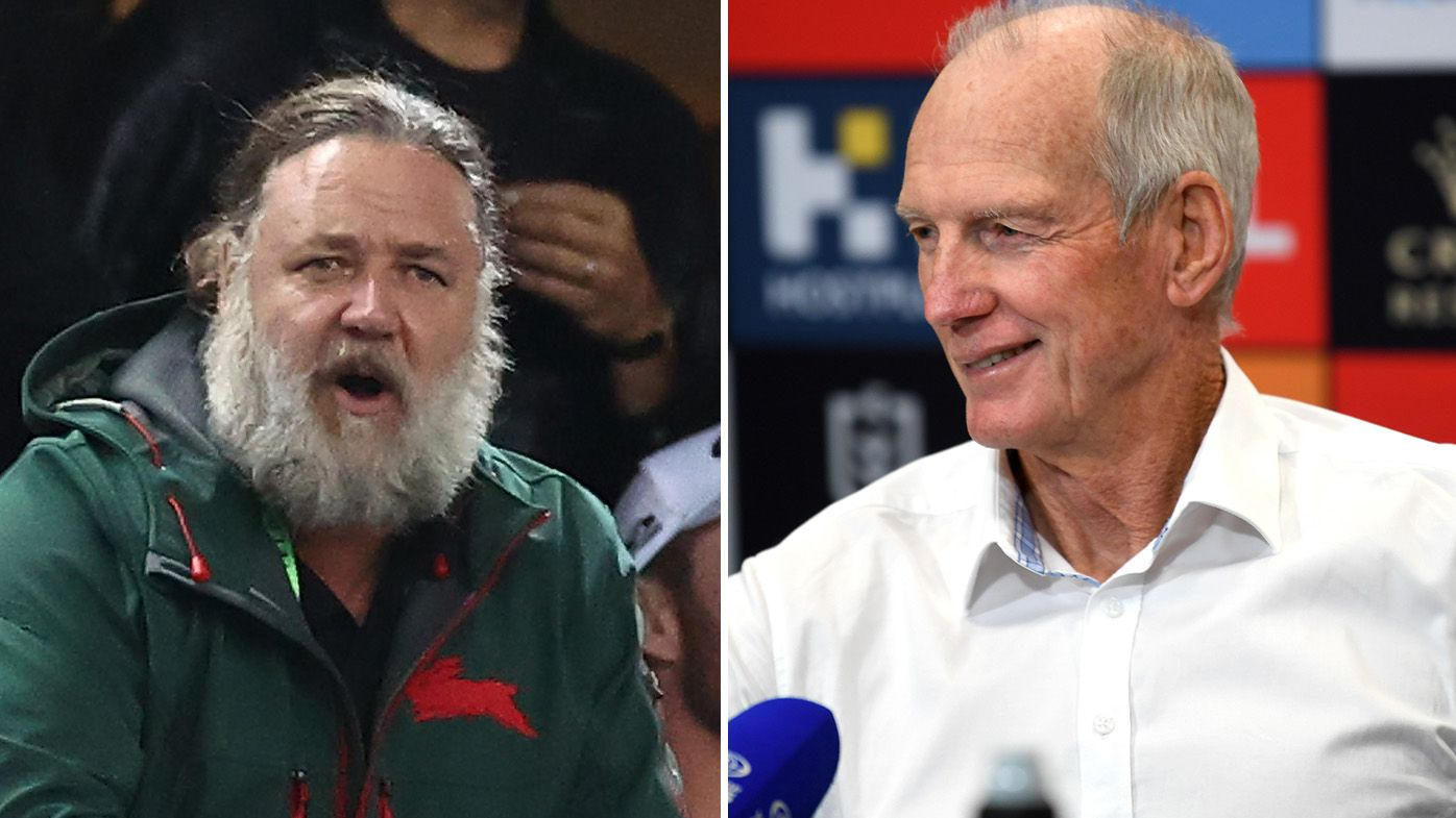 'He believes it, lives it': What Rabbitohs coach Wayne Bennett loves most about club owner Russell Crowe