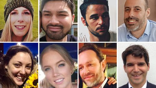 Photos issued by London Metropolitan Police of the victims of the London Bridge terrorist attack. (AAP)
