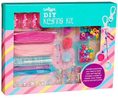 "<a href=""http://www.smiggle.com.au/shop/en/smiggle/diy-keyring-kit-412726--1"" target=""_blank"" draggable=""false"">Smiggle DIY Key Ring Kit, $14.95.</a>"