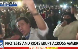 Fox news reporter attacked at White House protest