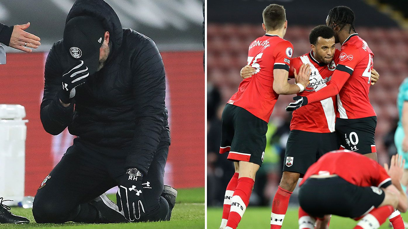'The perfect day': Southampton boss in tears after registering first win over EPL champs Liverpool