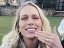 Erin Foster, engaged, diamond ring