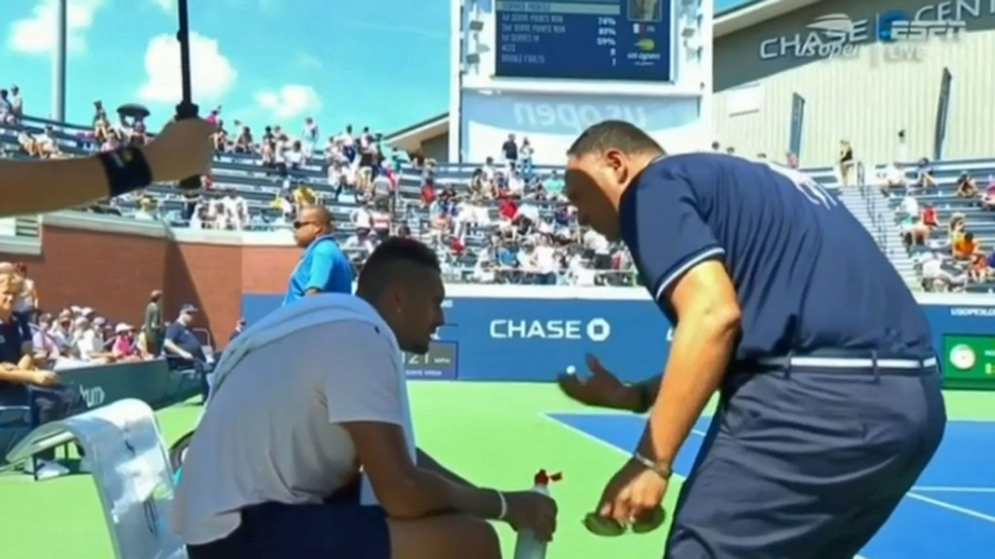 Chair umpire Mohamed Lahyani banned for two weeks for Nick Kyrgios US Open pep talk