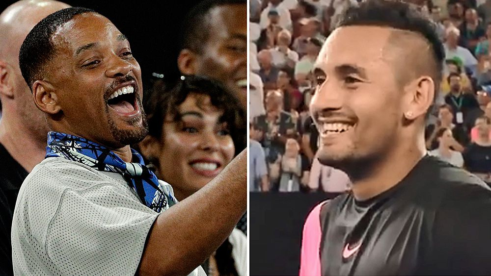 Australian Open: Nick Kyrgios was 'nervous' playing in front of Hollywood actor Will Smith