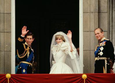 Prince Charles and Princess Diana wedding day.