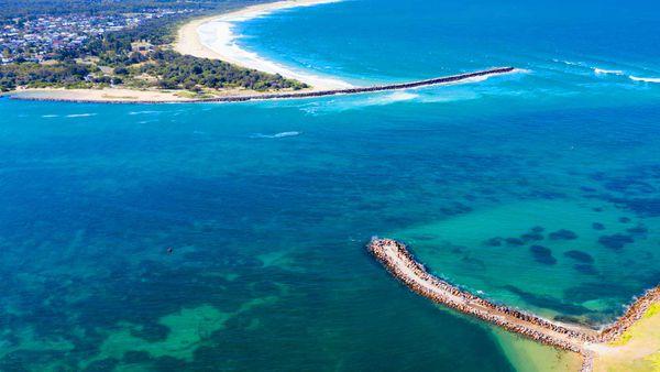 Lake Macquarie aerial view