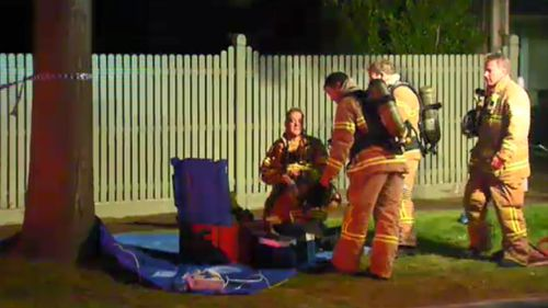Fire crews were called just after midnight to the home. (9NEWS)