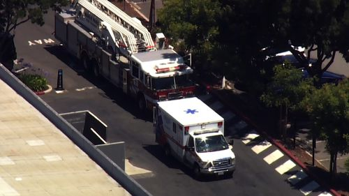 Emergency crews rushed to the scene.