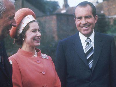 Queen Elizabeth with Richard Nixon, 1969