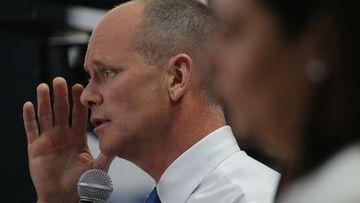 Queensland Premier Campbell Newman speaks during the leaders' debate. (AAP)