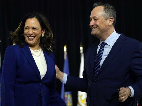 Kamala Harris and husband Douglas Emhoff.